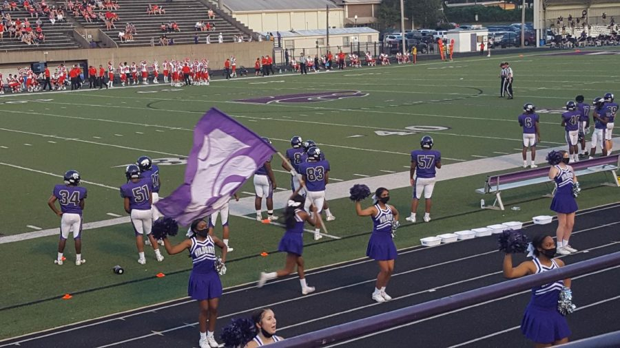 Tradition stands with the running of the Powercat flag.