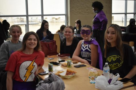 EHS students dressed up last Friday for Super Hero Day.