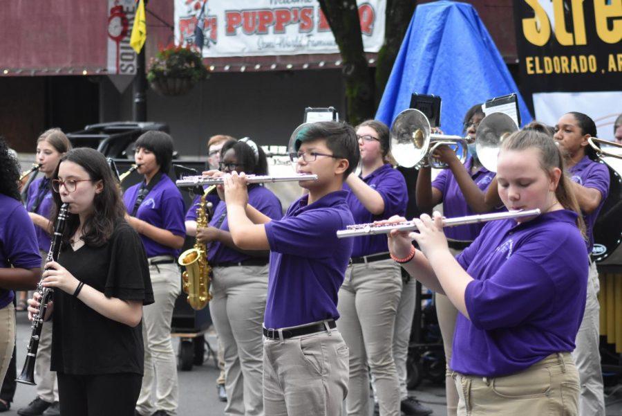El Dorado High Schools orchestra, band, and choir performed Saturday morning at Music Fest.